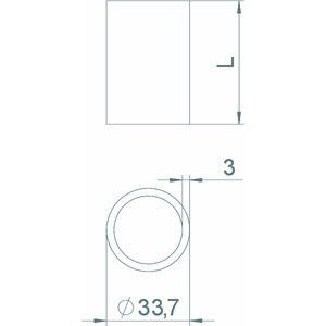 DHI 060, Distanzhülse für isolierte Decken 33,7x60x3mm, St, FT