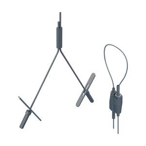 SLK15Y500L3, nVent CADDY Speed Link SLK mit Y-Toggle Kippelement, 1,5 mm Stahlseil, 3 m (9,9') Länge, 0,5 m (19,6) Y Länge