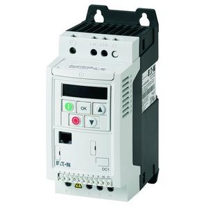 DC1-124D3FN-A20CE1, Frequenzumrichter, 230 V AC, 1-phasig, 4.3 A, 0.75 kW, IP20/NEMA 0, Funkentstörfilter, FS1