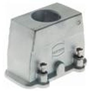 Tüllengehäuse, Baugröße: 6 B, Schraubverriegelung, gerader Kabeleingang, 1x M25, Werkstoff Gehäuse: Aluminium-Druckguss, unbeschichtet, unlackiert