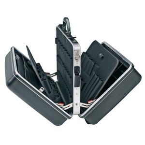 98 99 14 LE, Werkzeugkoffer BIG Twin, beidseitig aufklappbar ABS-Koffer, Farbe rot (wie 98 99 14) 445 x 350 x 105 mm (innen)