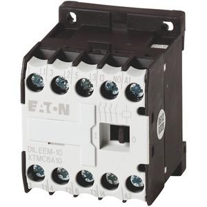 DILEEM-10(220V50HZ,240V60HZ), Leistungsschütz, 220 V 50 Hz, 240 V 60 Hz, 3-polig, 380 V 400 V, 3 kW, Kontaktbestückung S = Schließer= 1 S, Schraubklemmen, Wechselstrombetätigung