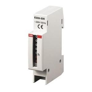 E233-12/48, Betriebsstundenzähler E233 für Schalttafeleinbau Spannung DC 12 V...48 V