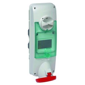 Wandsteckdose verriegelt, 63A, 3p+N+E, 380-415 V AC, IP65