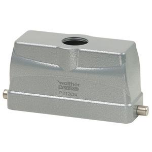 Tüllengehäuse B24, BB46, DD108 und MOB24 aus Aluminium der Höhe 76mm mit Längsverriegelungsnocken, 1xM32 Verschraubung und Kabeleinführung gerade-P718924MV