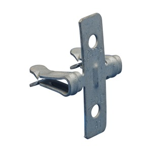 Zweiloch-Flanschklipp zum Aufschlagen, seitliche Montage, 3–6 mm Flansch