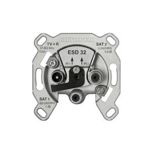 ESD 32 STECKD.D.SAT, ESD 32 Einzelanschlussdose, 3-fach