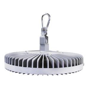 Vigilant High Bay, Medium, 19500 Lumens, 129 Watts, 100 - 277 VAC, Cool White 5000K, Glass - Clear, Gray, Hook, 10' [3 meter] Power Cable, [CE / ENEC / RCM]