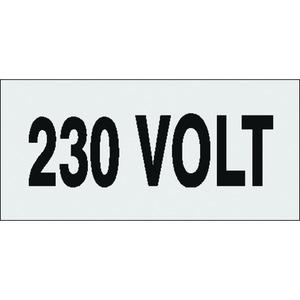 VMA-B-230V, Voltmarkierer, 230 Volt,  26 x 114 mm VE=10 Karten, 4 Mark./Karte Preis per VPE  VPE =10