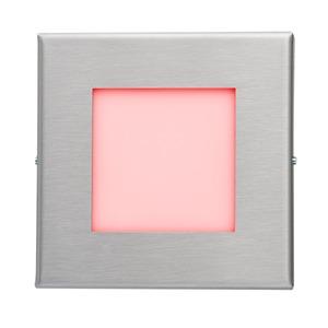 LED-Wandeinbaul.230V Edelst.,1,2W,LF:rot