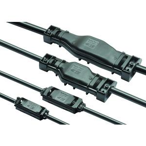 HRayGel Plus 3, PowerGel gefüllte Verbindungs- und Abzweigmuffen für Mehrleiter-Kunststoffkabel bis 0,6/1 kV Hauptkabel: 3-5 x 6-16mm2 Abzweigkabel: 3-5 x 6-16mm2 Verbinderblock enthalten
