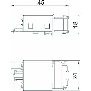 ASM-C6 GS, Anschlussmodul CAT 6 Snap-In geschirmt