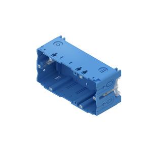 HKED265, Geräteeinbaudose, doppelt, 71x142x50 mm, enzianblau