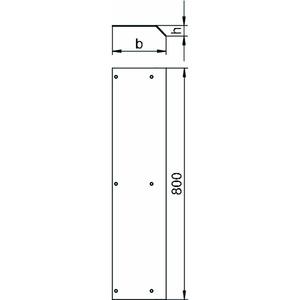 AIKF D 35075, Blinddeckel für Aufboden-Kanal, St, FS