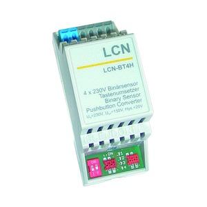 LCN - BT4H, 4-fach Tasten-/Binärsensor 230V für die Hutschiene, für den I-Anschluss