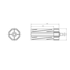 4030, Walzenkapsel, SW60, Einsteckl.120 mm