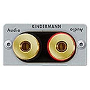Anschlussblende Lautsprecher mit Schraubklemmen, Halbblende, Aluminium eloxiert