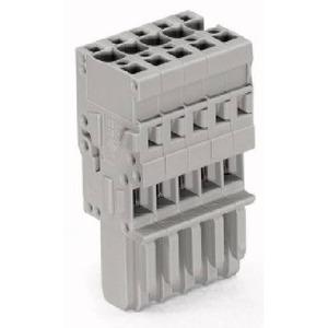 1-Leiter-Federleiste 4 mm² 15-polig grau