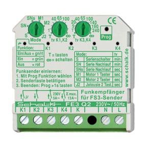 FE3 Q2, Funk-Empfängerschalter 4-Kanal 230V AC (UP)