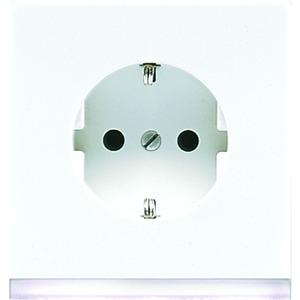 LS 520-O WW LEDW, SCHUKO-Steckdose, 16A250V~, Berührungsschutz, weißes LED-Orientierungslicht