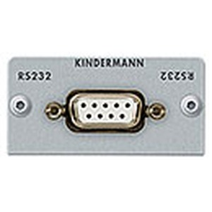 Anschlussblende mit Lötanschluss, Seriell RS232 (9-Pin SubD), Halbblende, Aluminium eloxiert