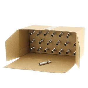 E2B-S08KS02-MC-B1-20, 20er Pack: Induktiver Sensor - LITE Linie, Schaltabstand 2mm, bündig, Edelstahl-Gehäuse kurz M8, 24 VDC, 3-Draht, PNP, Schliesser, 3poliger M8 Stecker