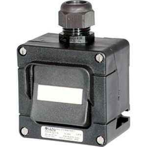 GHG 273 4000 R0004, Ex-Installationsschalter 16 A für Zone 1/21Taster 2-polig, 1 x M25, direkte Gehäusebohrung, Verschraubung(en): 1 x M25, 8 mm - 17 mm Polyamid