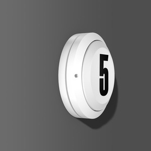 Wand-Deckenleuchte LED/4,3W-4000K D268, m.Dämmerungsschalter, 190 lm