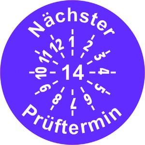 INP-F-14, Prüfplakette 14, violett (30mm) VPE:10 Karten a 5 Symbole, Preis per VPE