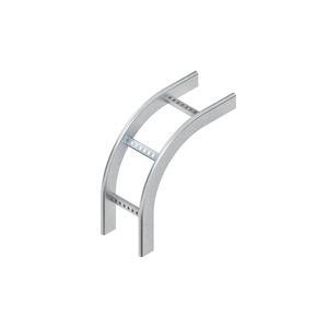KRCF 60.325 F, Fallstück 90°, vertikal, mit gelochten C-Sprossen, 60x300 mm, Stahl, feuerverzinkt DIN EN ISO 1461