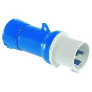 CEE Stecker, Schraubklemmen, 16A, 2p+E, 200-250 V AC, IP44