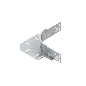 REK 60 F, Eckanbaustück für KR, Höhe 60 mm, mit ungelochtem Seitenholm, Stahl, feuerverzinkt DIN EN ISO 1461, inkl. Zubehör