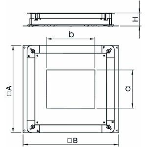 UGD 250-3 9, Unterflur-Gerätedose 250-3 für GES9 410x367x70, St, FS