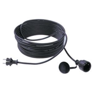 HECB101.5, Gummi-Verlängerung H05RR-F3G1.50 mm², 10 m, schwarz