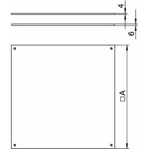DUF 350-2, Blinddeckel UZD350-2/3 für Nasspflege 383x383x4, St, FS