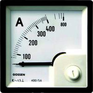 Anzeigeinstrument Typ EQB 48 an Wandler 5/10A,Skala 250/500A