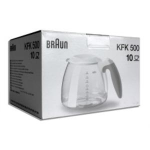 KFK 500 weiss, Braun Ersatzkanne + Deckel Café House - weiß, weiß