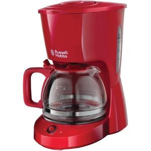 22611-56, Russell Hobbs Textures Red Glas-Kaffeemaschine 22611-56