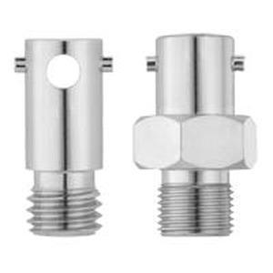 Bajo-Adapter SW M10x1 D 12/6,5 x 30 MS, Bajonett-Gegenstück (SW), D=12/6,5mm, L=30/10mm, M10x1, Messing vernickelt