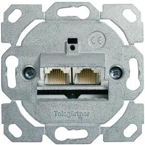 J00020A0502, Anschlussdose AMJ45 8/8 K Up/0 Cat.6A(IEC) ohne Zentralplatte