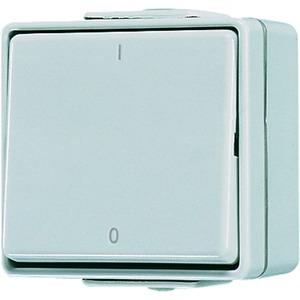 602 W, Wippschalter, 10 AX, 250 V ~, Kennzeichnung 1 / 0, Aus 2-polig
