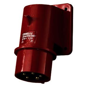 379, Aufbaustecke 5-polig 5x16A spritzwassergeschützt