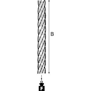 CW100-4, E-KLIPS, Stahlseil, Ø 4 mm, Länge 100 m, Stahl, feuerverzinkt