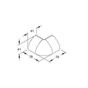 EDKA50.6, Außeneck, 41x41 mm, Kunststoff ASA, RAL 9001, cremeweiß