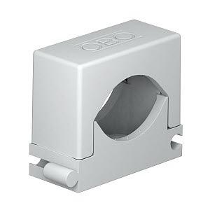 2037 18-30 LGR, Reihen-Druck-Schelle 18-30mm, PA, lichtgrau, RAL 7035