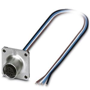 SACC-SQ-M12FS-4CON-20/0,5, Einbausteckverbinder