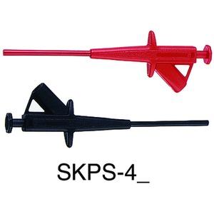 SKPS-4, 4mm Sicherheits-Abgreifer schwarz