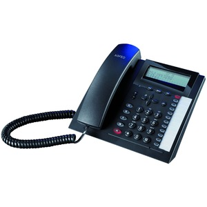 T 18 schwarz, analoges Telefon mit 3-zeiligem Display
