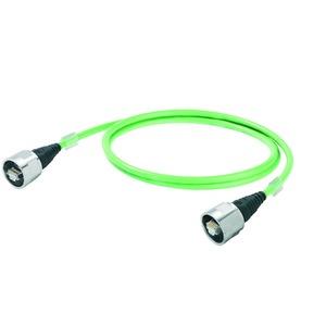 IE-C5ES8UG0100B41B41-E, Datenleitung (konfektioniert) Kupfer, Halogene: halogenfrei, gemäß IEC 60754-2, grün (RAL 6018)