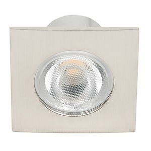 LED Mini Spot Q nickel-geb. 3,3W warmweiß 38°, LED Mini Spot Q nickel-geb. 3,3W warmweiß 38°